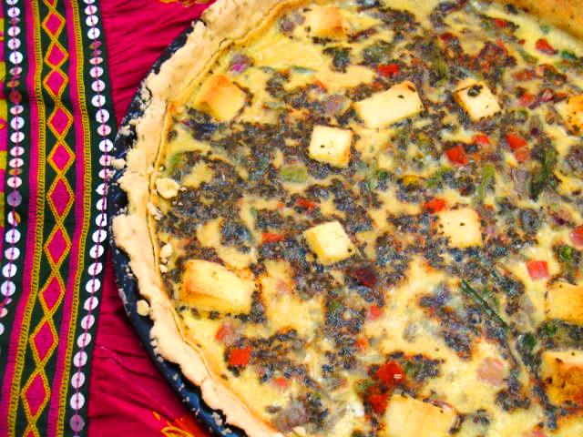 A vegetable and paneer quiche from scraps sliceofmylyfe a food fast forward 2011 and i am still fond of quiche and the incredible variations you can make of this exotic sounding humble dish i have had meat based forumfinder Image collections