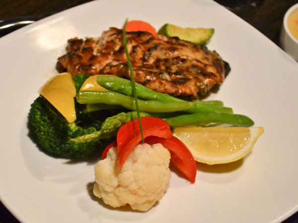 Grilled Hammour with vegetables